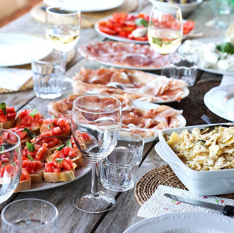 Colletto villas italian food